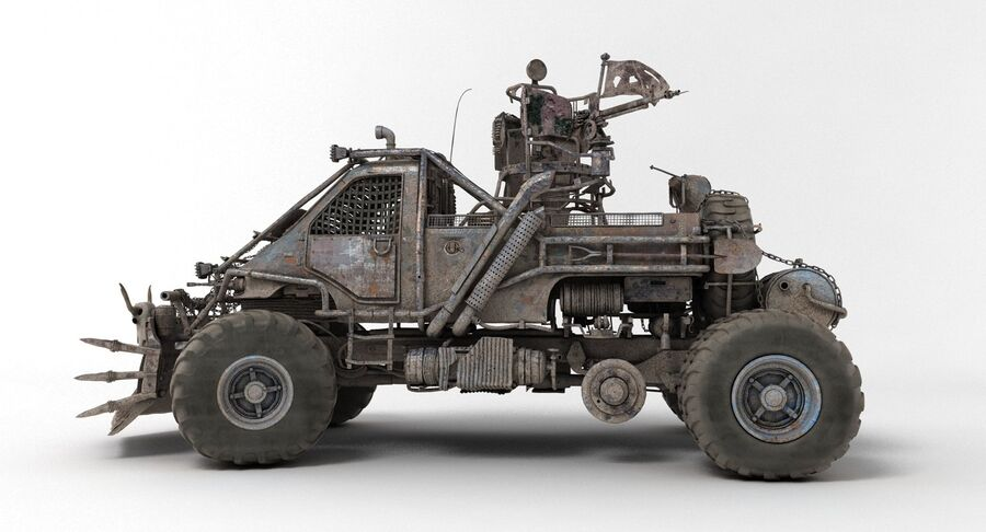 Apocalyptic Truck 2 royalty-free 3d model - Preview no. 5