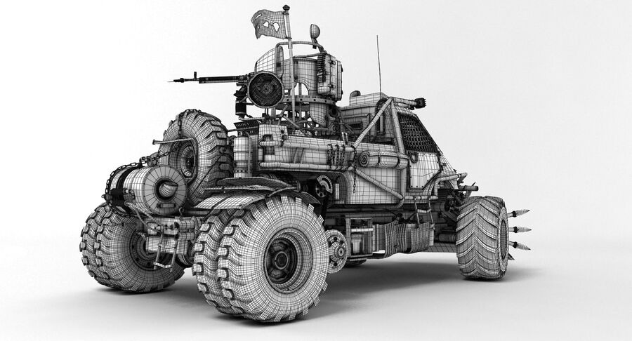 Apocalyptic Truck 2 royalty-free 3d model - Preview no. 11