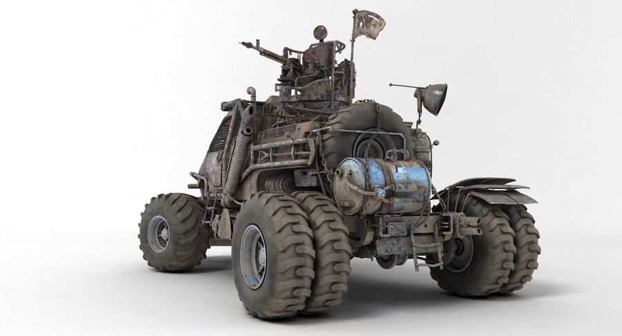 Apocalyptic Truck 2 royalty-free 3d model - Preview no. 7