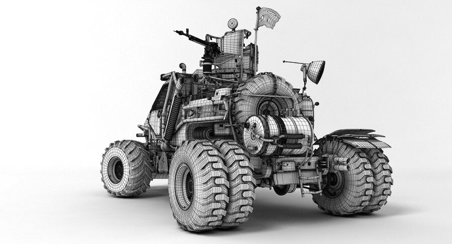 Apocalyptic Truck 2 royalty-free 3d model - Preview no. 8