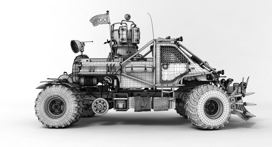 Apocalyptic Truck 2 royalty-free 3d model - Preview no. 12