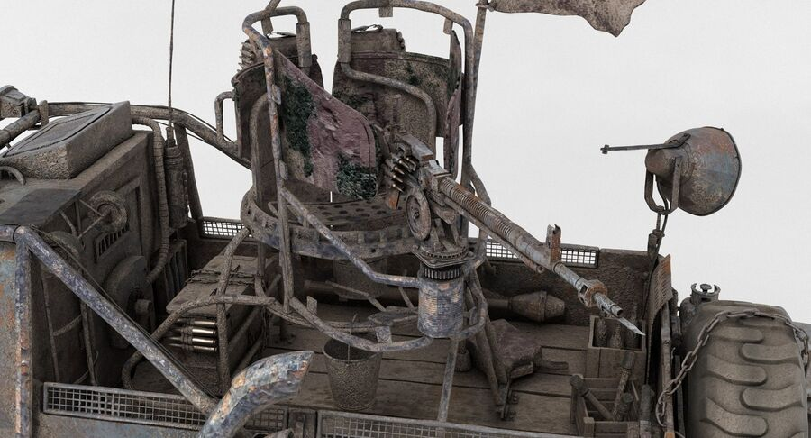 Apocalyptic Truck 2 royalty-free 3d model - Preview no. 19