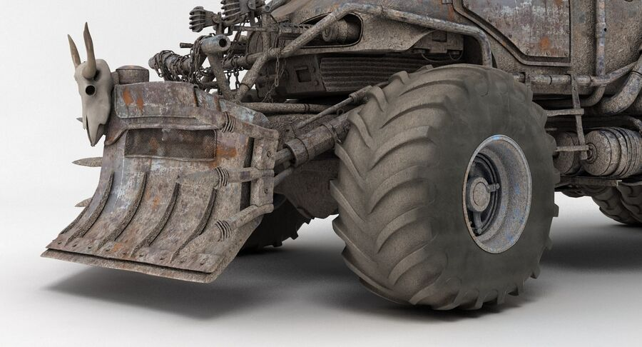 Apocalyptic Truck 2 royalty-free 3d model - Preview no. 16