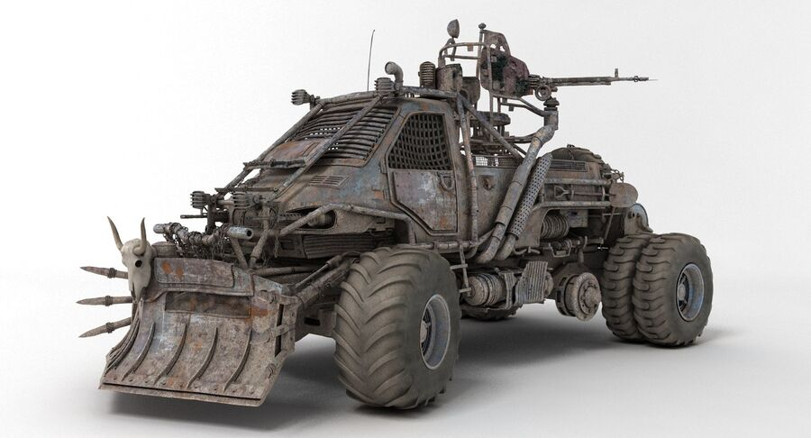 Apocalyptic Truck 2 royalty-free 3d model - Preview no. 3