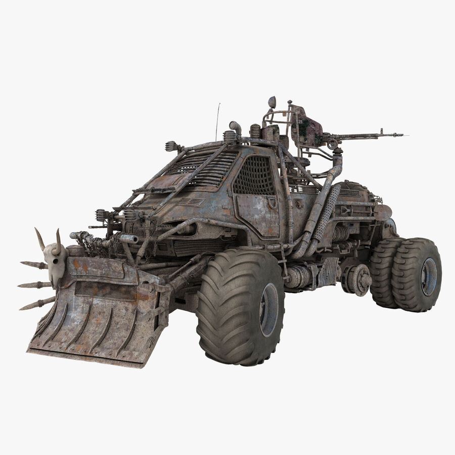 Apocalyptic Truck 2 royalty-free 3d model - Preview no. 1