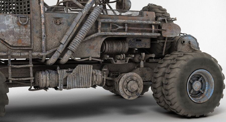 Apocalyptic Truck 2 royalty-free 3d model - Preview no. 18