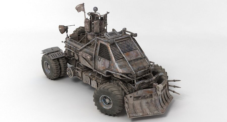 Apocalyptic Truck 2 royalty-free 3d model - Preview no. 13