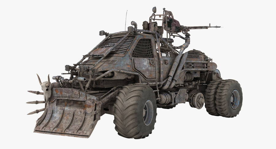 Apocalyptic Truck 2 royalty-free 3d model - Preview no. 2