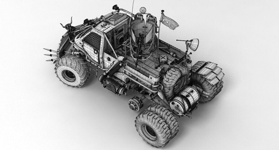 Apocalyptic Truck 2 royalty-free 3d model - Preview no. 15