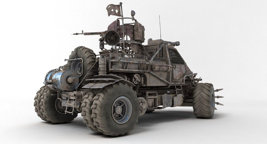 Apocalyptic Truck 2 royalty-free 3d model - Preview no. 10