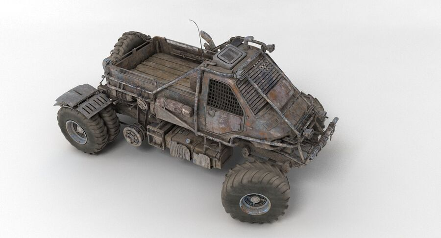 Apocalyptic Truck 3 royalty-free 3d model - Preview no. 14