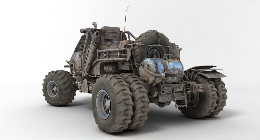 Apocalyptic Truck 3 royalty-free 3d model - Preview no. 7