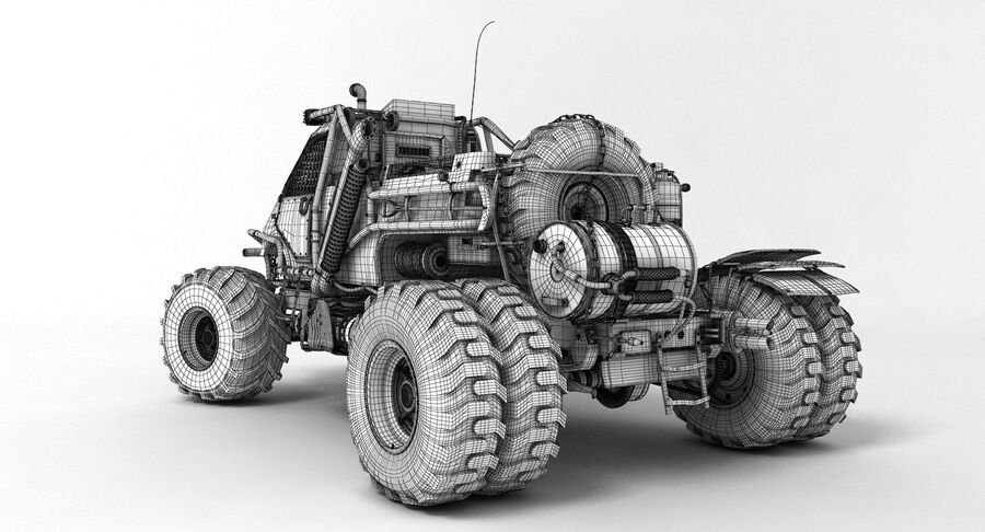 Apocalyptic Truck 3 royalty-free 3d model - Preview no. 8