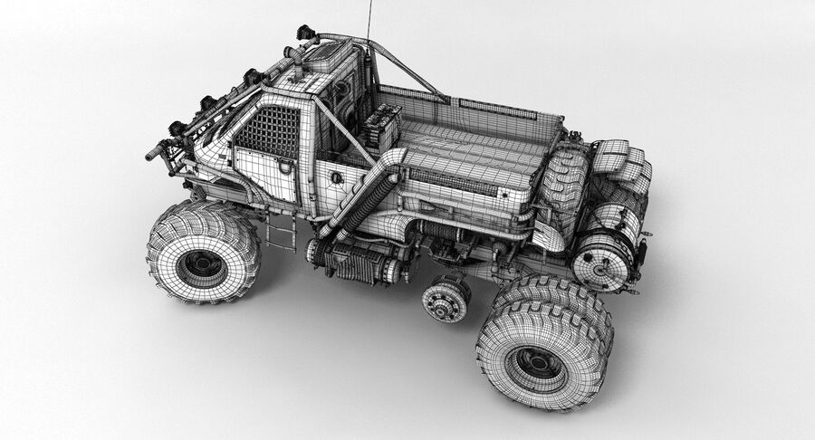 Apocalyptic Truck 3 royalty-free 3d model - Preview no. 17