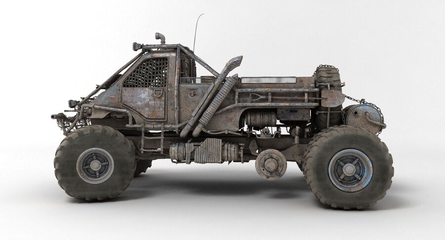 Apocalyptic Truck 3 royalty-free 3d model - Preview no. 5