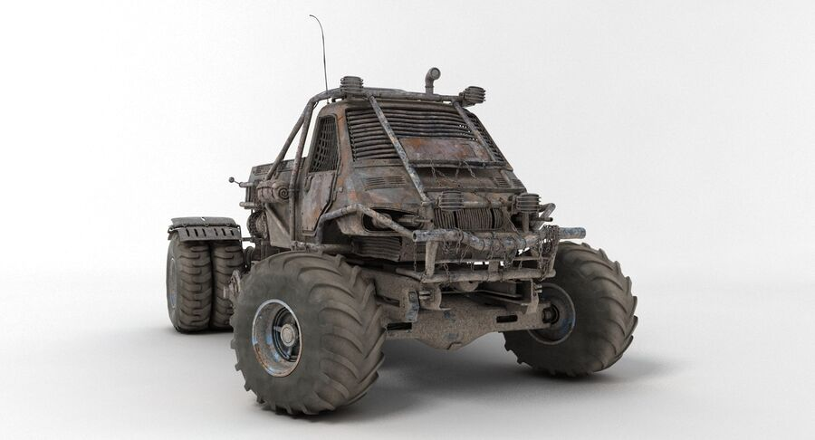 Apocalyptic Truck 3 royalty-free 3d model - Preview no. 13