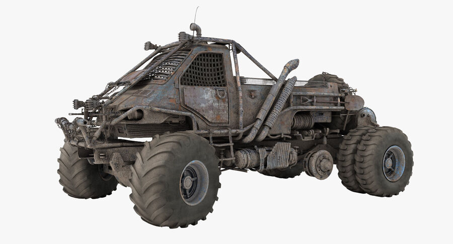 Apocalyptic Truck 3 royalty-free 3d model - Preview no. 2