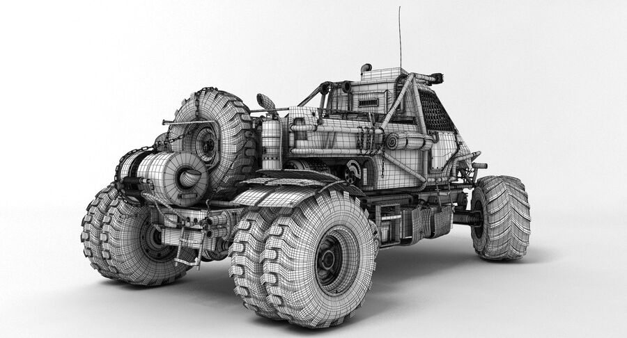 Apocalyptic Truck 3 royalty-free 3d model - Preview no. 10