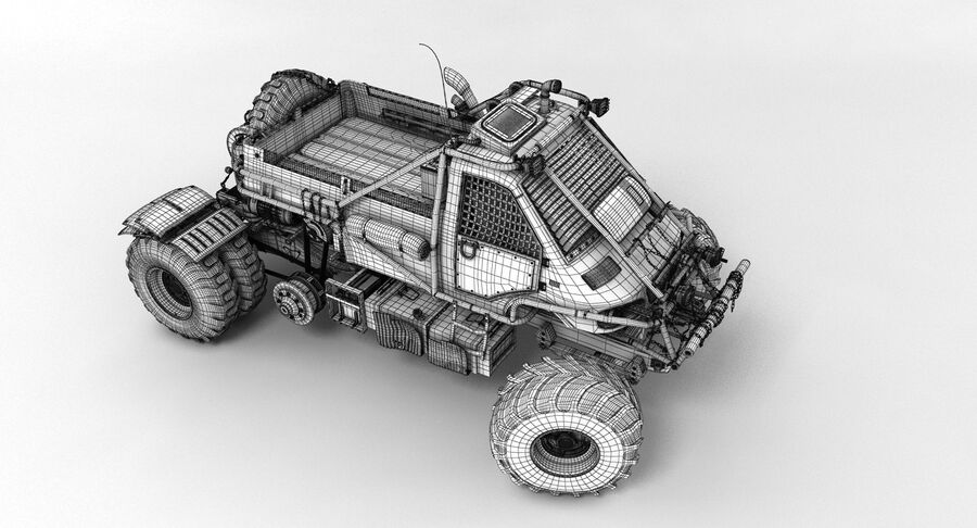 Apocalyptic Truck 3 royalty-free 3d model - Preview no. 15
