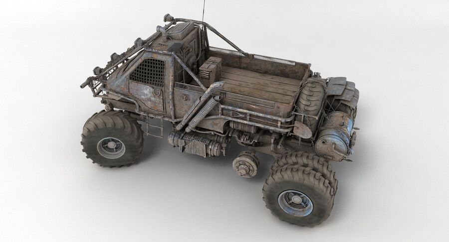 Apocalyptic Truck 3 royalty-free 3d model - Preview no. 16
