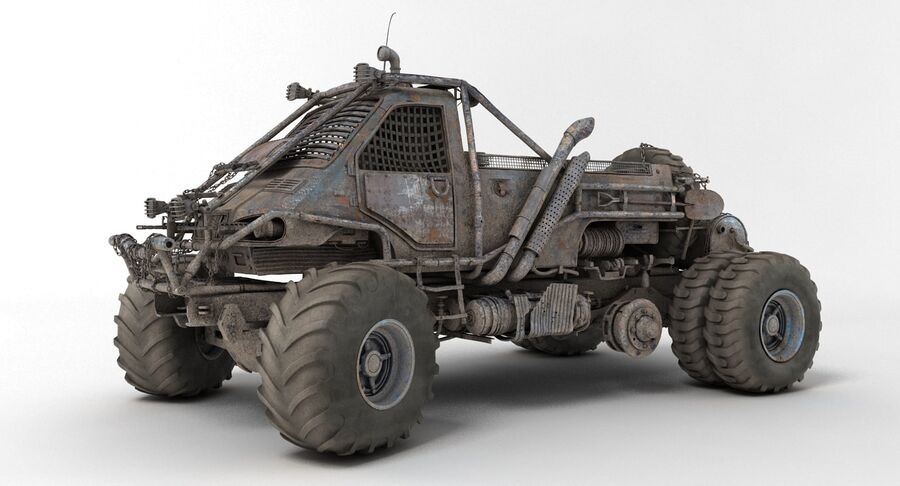 Apocalyptic Truck 3 royalty-free 3d model - Preview no. 3