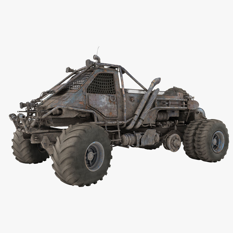 Apocalyptic Truck 3 royalty-free 3d model - Preview no. 1