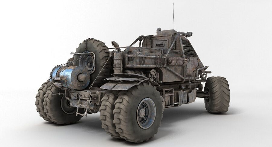 Apocalyptic Truck 3 royalty-free 3d model - Preview no. 9