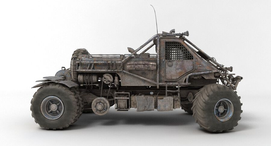 Apocalyptic Truck 3 royalty-free 3d model - Preview no. 11