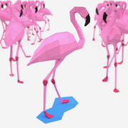 Flamingo Papercraft 3d model