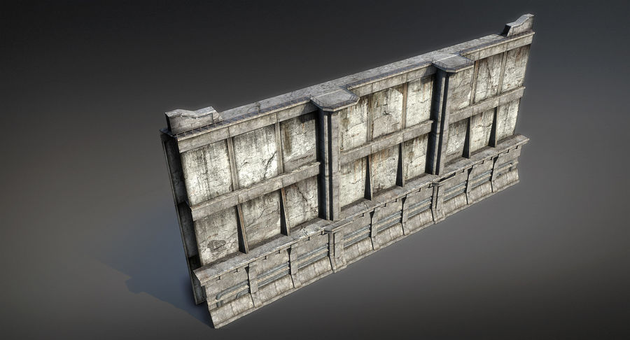 City Wall royalty-free 3d model - Preview no. 4