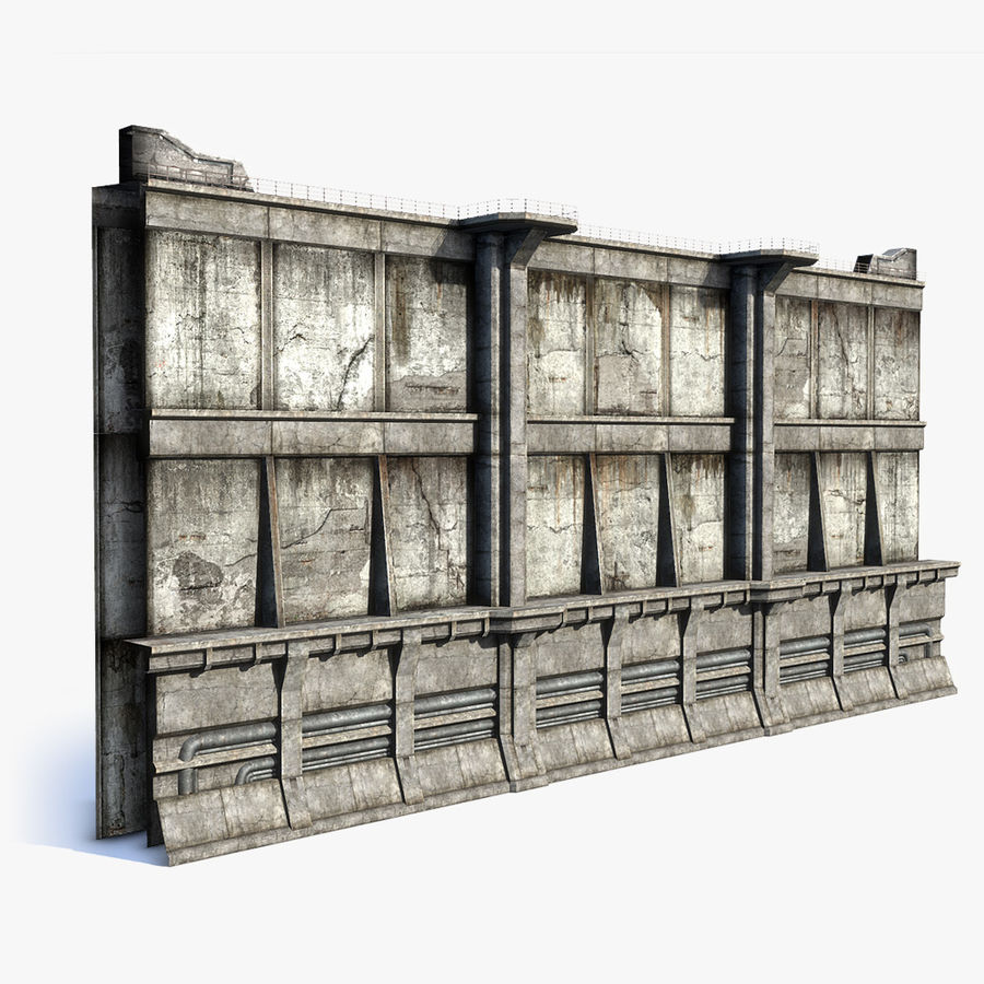 City Wall royalty-free 3d model - Preview no. 1