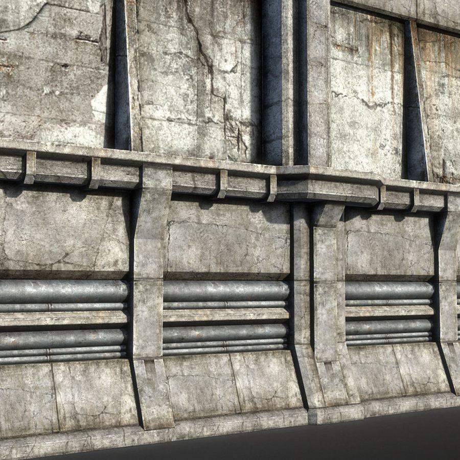 City Wall royalty-free 3d model - Preview no. 3