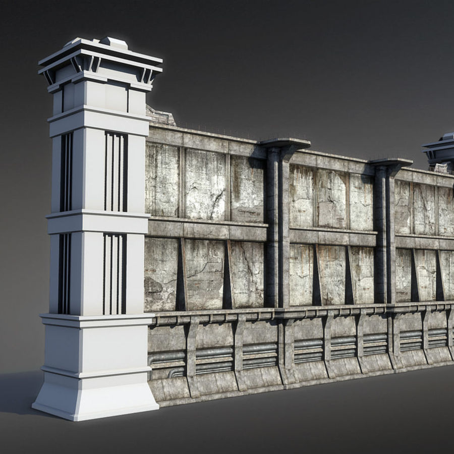 City Wall royalty-free 3d model - Preview no. 5