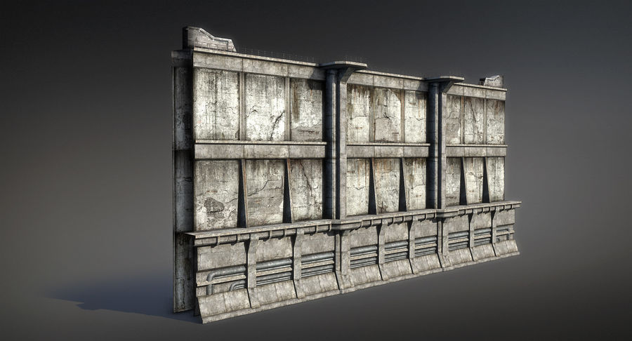 City Wall royalty-free 3d model - Preview no. 2