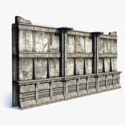 Parede da cidade 3d model