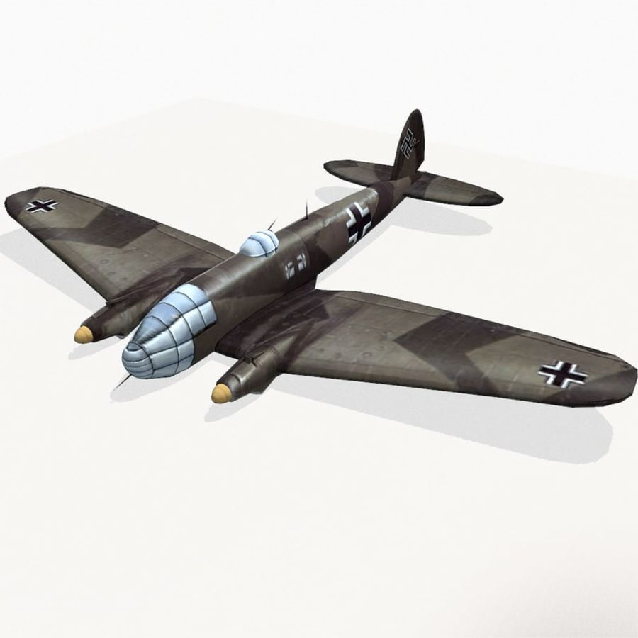 Heinkel He 111 royalty-free 3d model - Preview no. 2