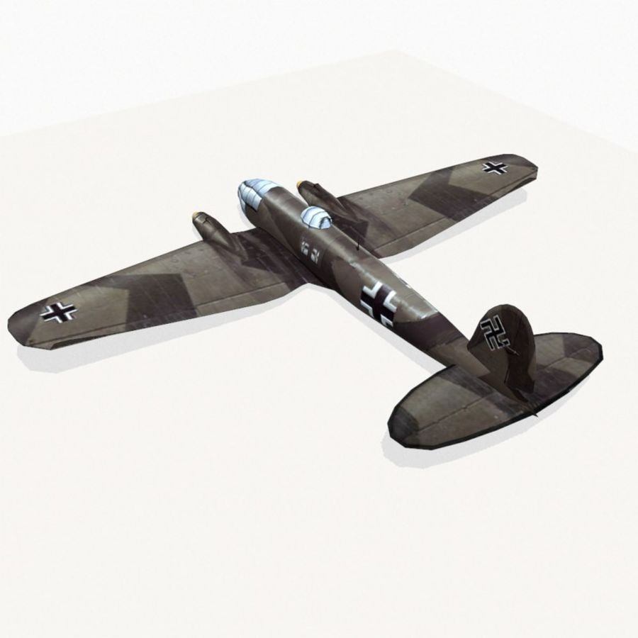 Heinkel He 111 royalty-free 3d model - Preview no. 8