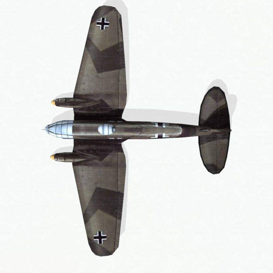 Heinkel He 111 royalty-free 3d model - Preview no. 10