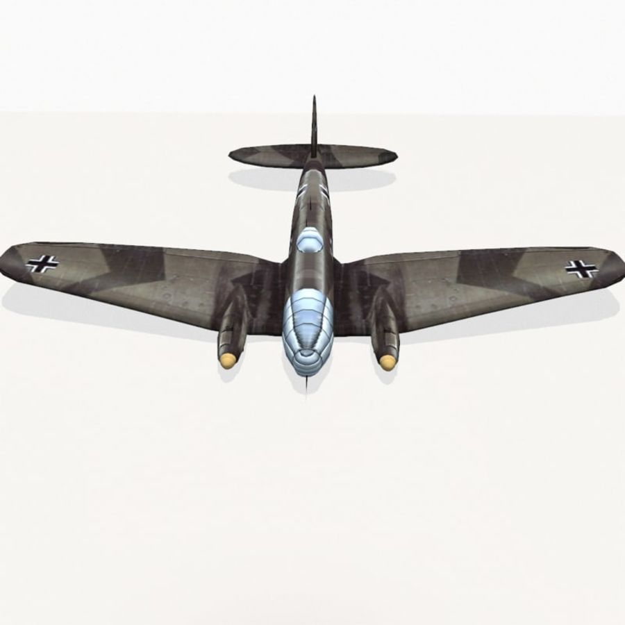 Heinkel He 111 royalty-free 3d model - Preview no. 7