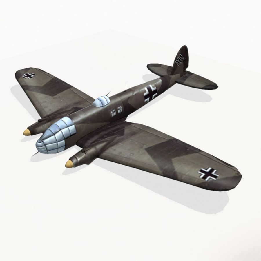 Heinkel He 111 royalty-free 3d model - Preview no. 3