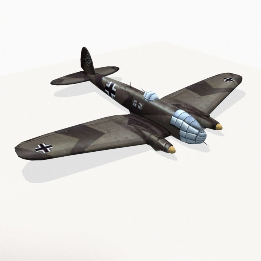 Heinkel He 111 royalty-free 3d model - Preview no. 6