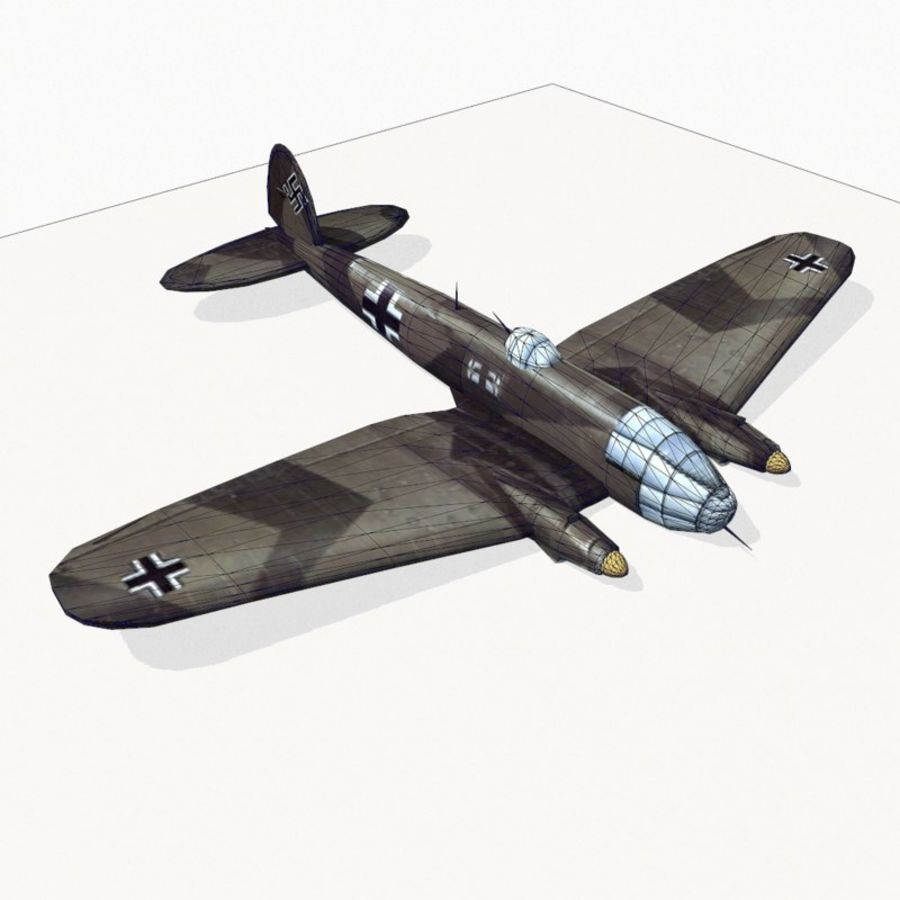 Heinkel He 111 royalty-free 3d model - Preview no. 14