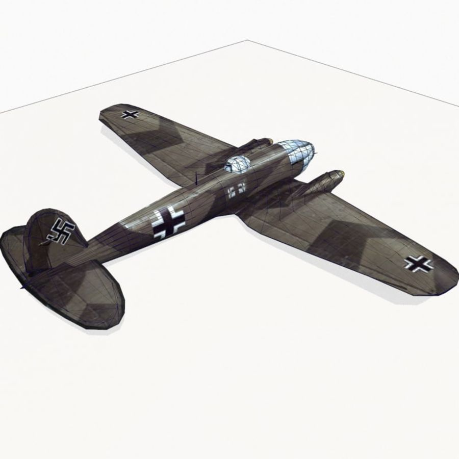 Heinkel He 111 royalty-free 3d model - Preview no. 13