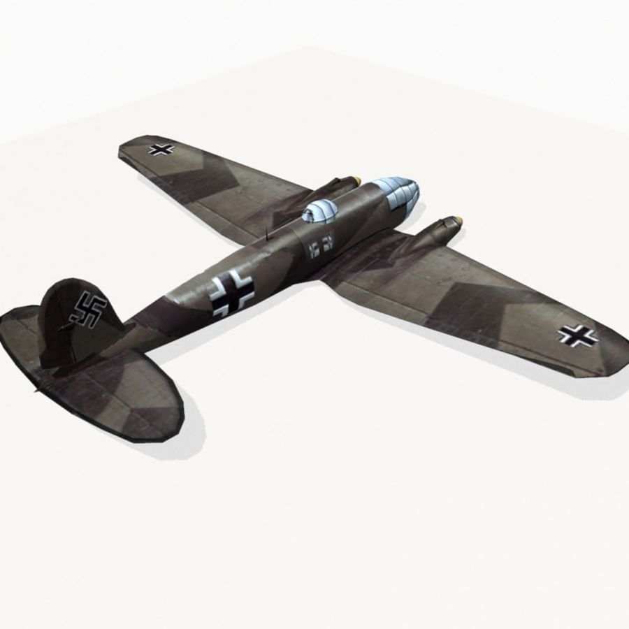 Heinkel He 111 royalty-free 3d model - Preview no. 5