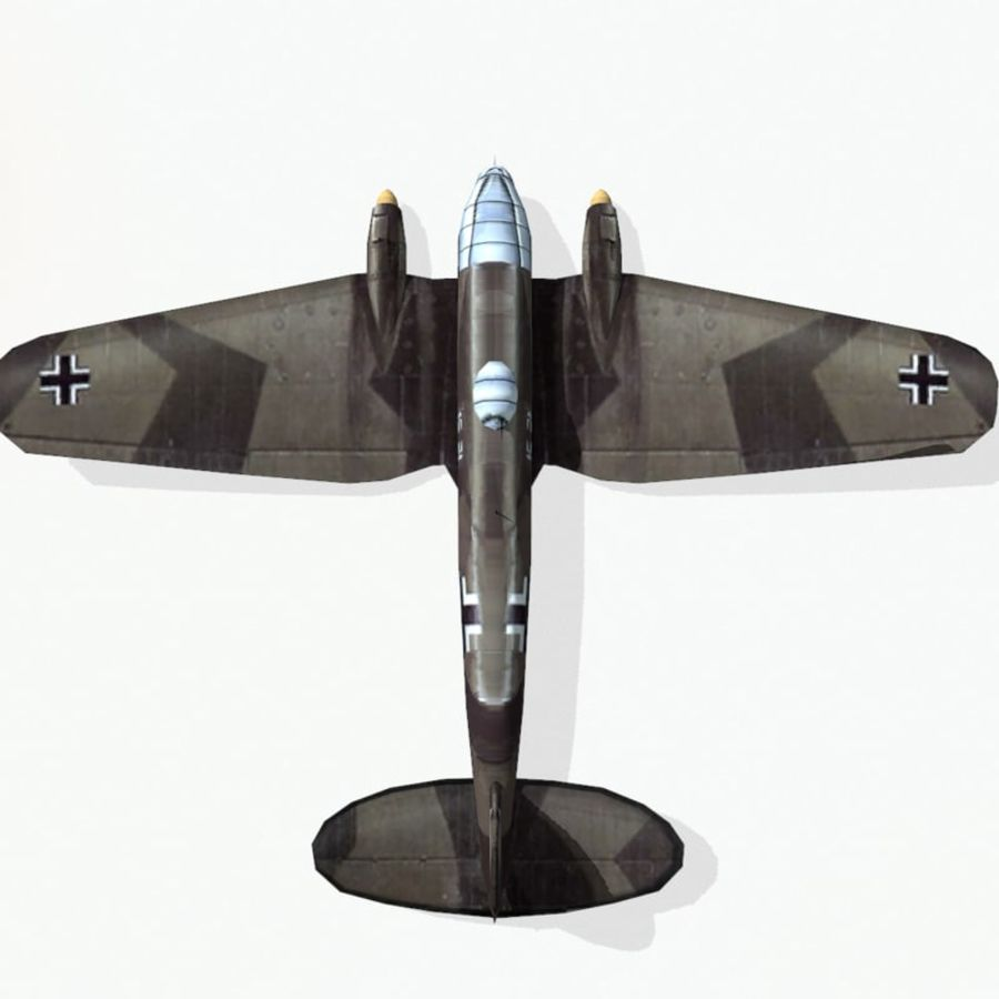 Heinkel He 111 royalty-free 3d model - Preview no. 9