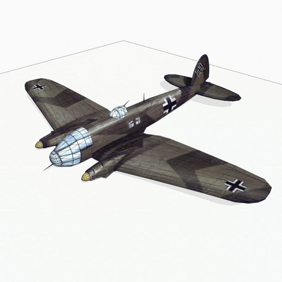 Heinkel He 111 royalty-free 3d model - Preview no. 11