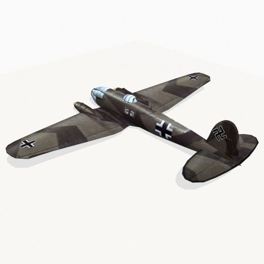 Heinkel He 111 royalty-free 3d model - Preview no. 4
