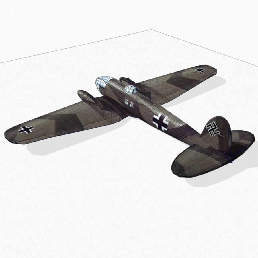 Heinkel He 111 royalty-free 3d model - Preview no. 12