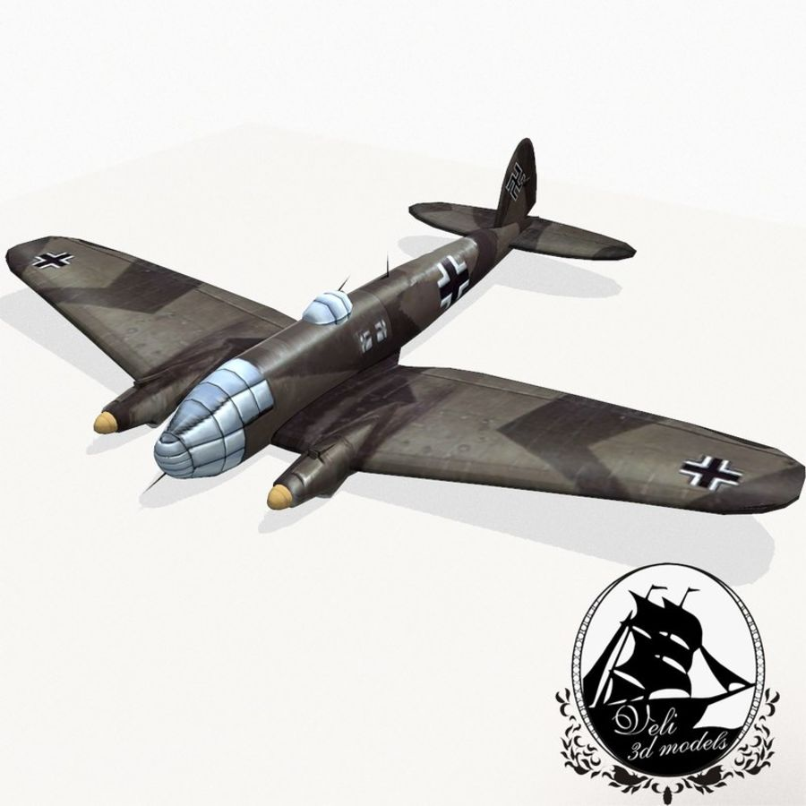 Heinkel He 111 royalty-free 3d model - Preview no. 1