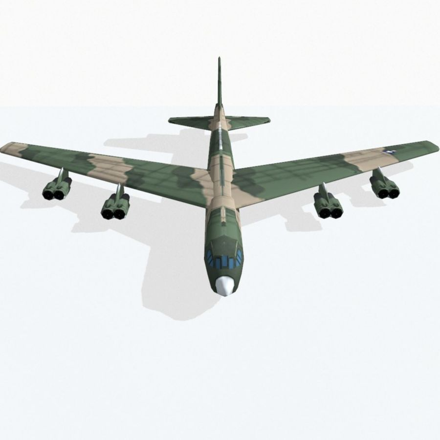 B-52 Stratofortress royalty-free 3d model - Preview no. 8